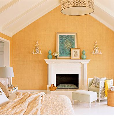 yellow grasscloth wallpaper