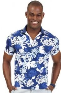 men's tropical polo shirt on sale