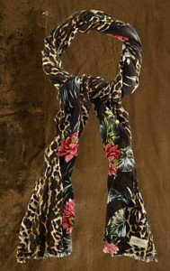 tropical floral scarf on sale
