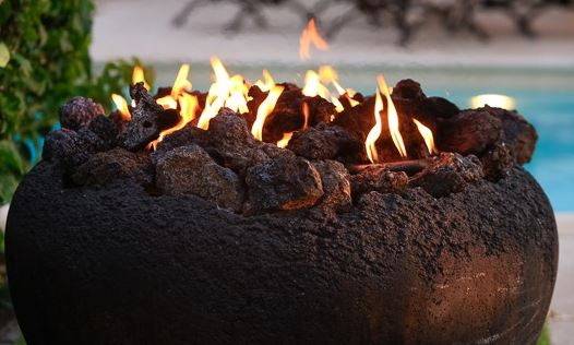 volcanic fire pit