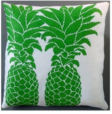 green pineapple pillow