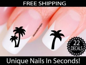 palm tree nail stickers