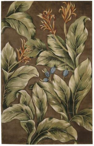 khaki tropical rug