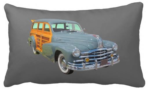 woodie car pillow