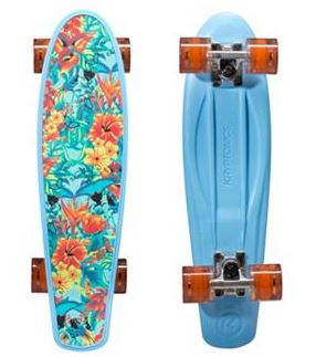 hawaiian print skateboard
