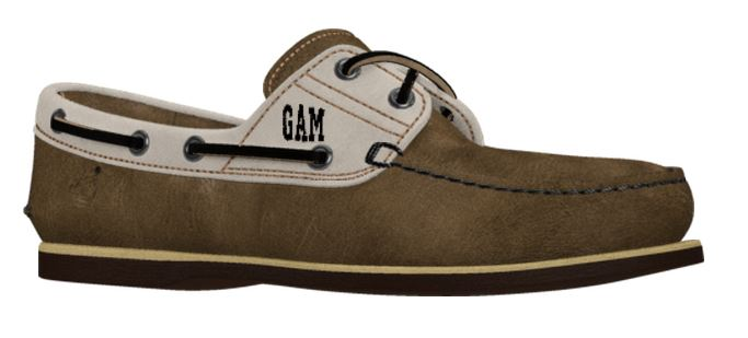 men's customized boat shoes