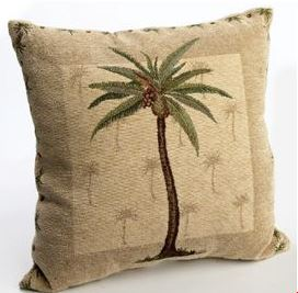 palm tree pillow on sale