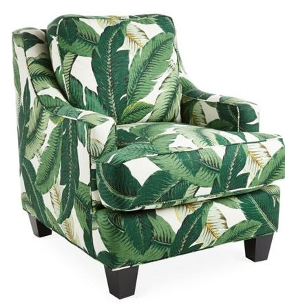 palm print chair