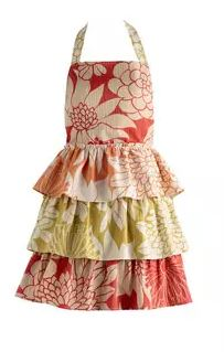 vintage style tropical apron