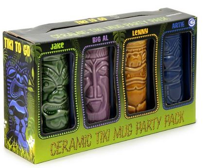 tiki mugs gift set