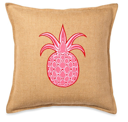pretty pink pineapple pillow