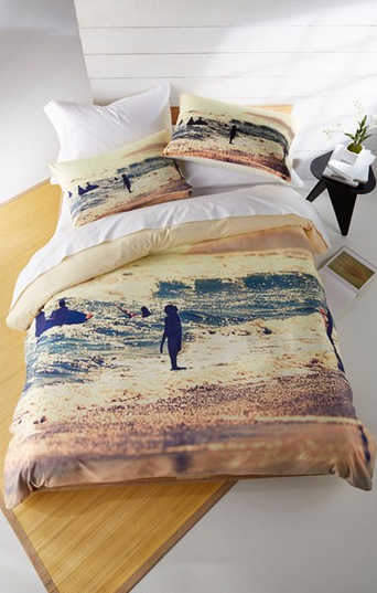 sunset surfing bedding