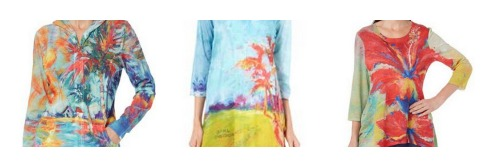 womens tropical clothing