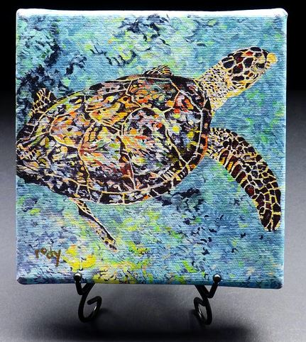 canvas turtle art