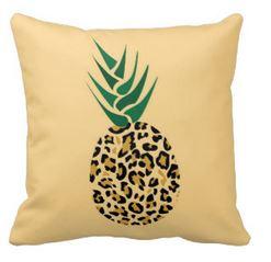 leopard print pineapple pillow