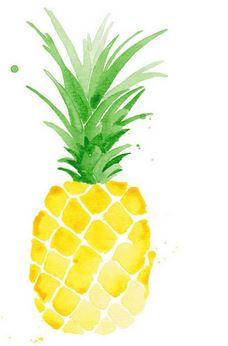 pineapple watercolor print
