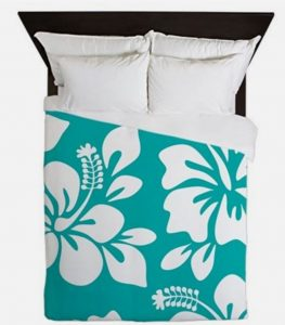 turquoise hawaiian bedding
