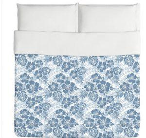 hawaiian blue hibiscus bedding
