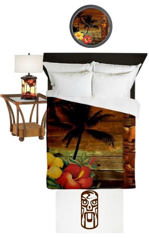 hawaiian theme bedroom