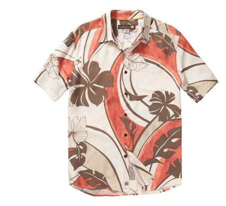 mens quicksilver hawaiian shirt