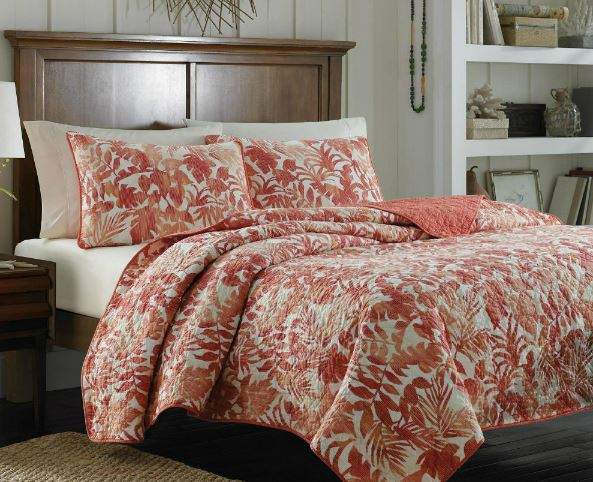 orange tropical quilt