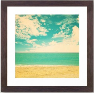 retro beach print