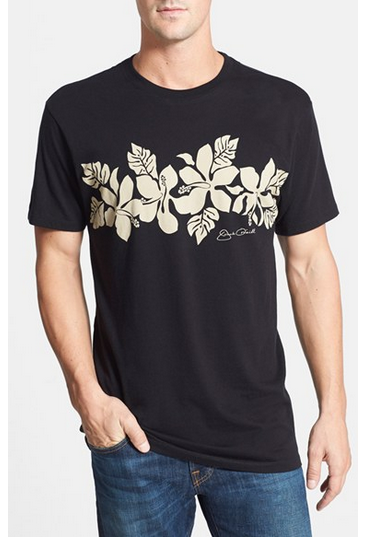 mens hawaiian print t-shirt