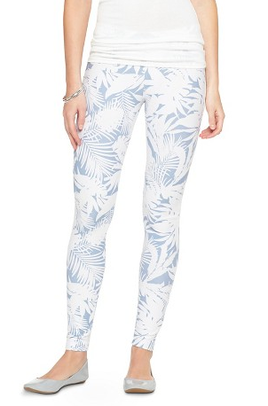 palm print jeggings