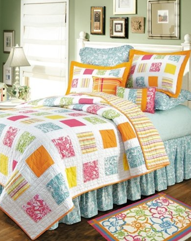 tropical patchwork quilts
