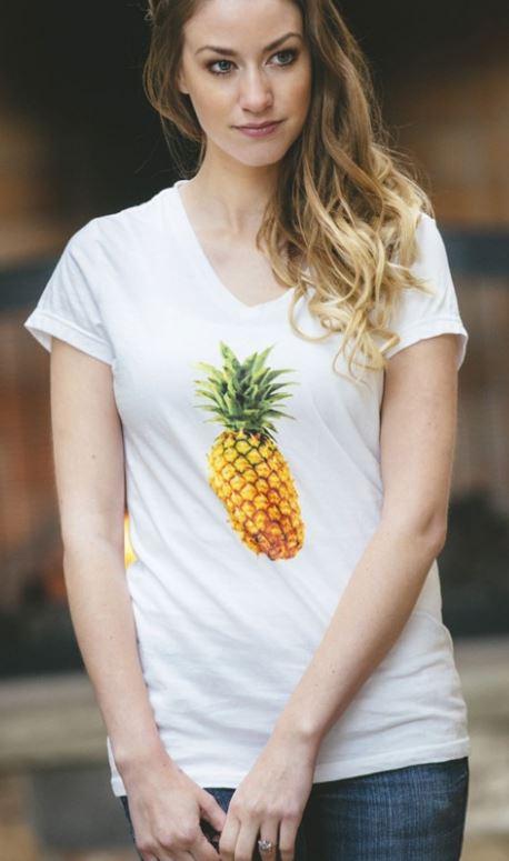 pineapple t-shirt on sale