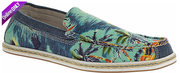men's Hawaiian print loafers