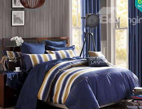 Personal Shopping Blue With Yellow Tropical Bedding The