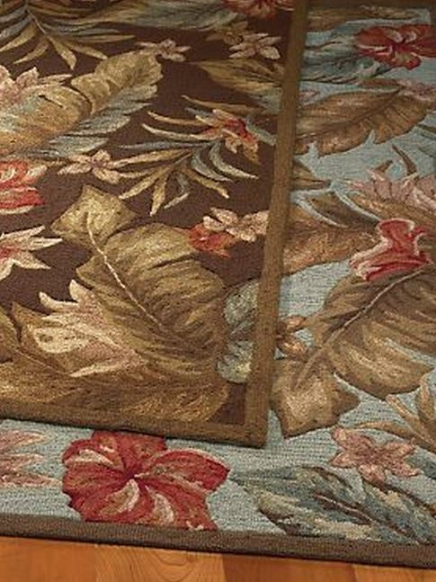 indoor/doutdoor tropical floral rug
