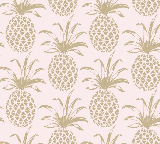 gold pineapple wallpaper