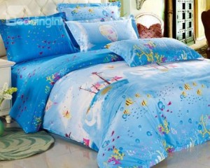 blue fish bedding