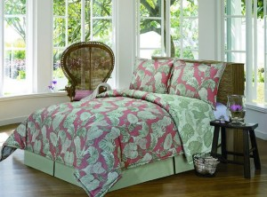 tropical coral comforter