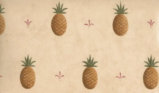 french country pineapple wallpaper