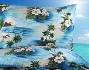 dean miller hawaiian bedding