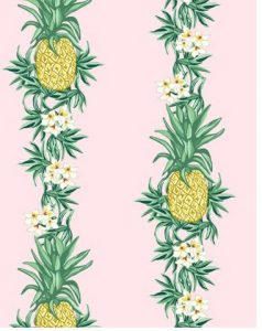 pink background pineapple wallpaper