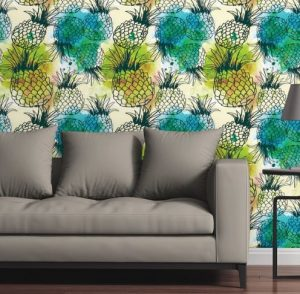 bold graphic pineapple wallper