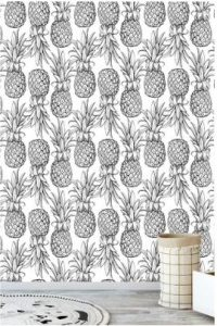 gray pineapple wallpaper
