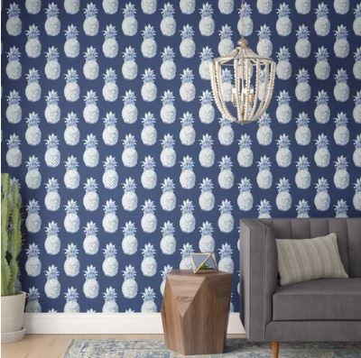 blue pineapple wallpaper