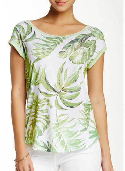 palm leaf t-shirt