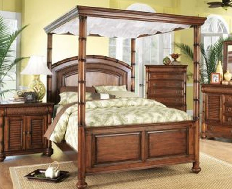 Tropical canopy bed by cindy crawford the hawaiian home for Tropical canopy bed