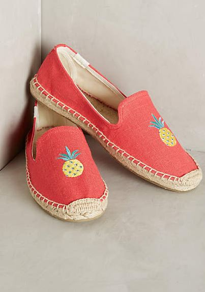pineapple espadrilles shoes