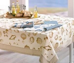 seashells beach tablecloth on sale