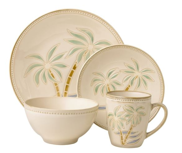 palm tree dinnerware