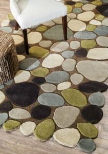 tropical pebble rug