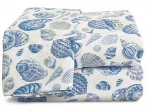 king size sea shells sheets