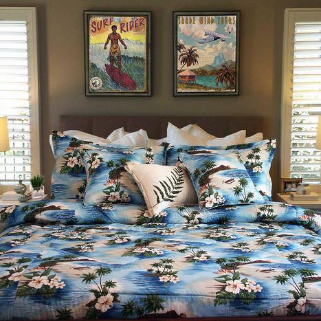 blue island style comforter